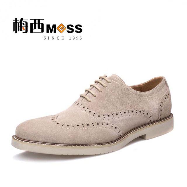 Hombres brogue zapatos de estilo británico para hombre zapatos oxford zapatos para hombres de cuero genuino meixi marca 2017