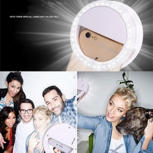 Smart Phone LED Selfie Ring Flash Enhancing Light Beauty Luminous Case For iPhone 5s 6S Plus LG Samsung S7 Android Mobile Phone