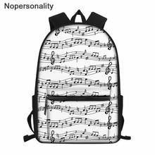 Nopersonalità zaino scuola per adolescenti Note musicali stampe borse da scuola per studenti delle scuole superiori borsa da donna classica Mochila zaino per bambini