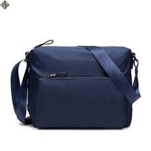 FUSHAN New Fashion Man Bag High Quality Nylon Men Messenger Bags Black famous brand waterproof  Male Shoulder Crossbody Bag