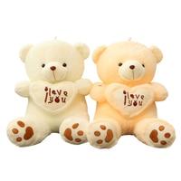 1 adet büyük boy 70 cm Dolması Peluş Oyuncaklar Holding Seni Seviyorum kalp Big Peluş Ayıcık Yumuşak Hediye Sevgililer Günü Doğum Günü için kızlar