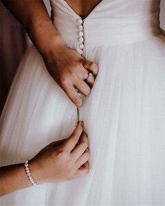 Image 3 - Платье для свадьбы SoDigne, белое/цвета слоновой кости, с бантом, без рукавов, на молнии, с открытой спинкой, на заказ, 2019