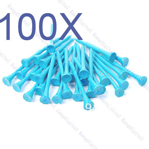 100pcs/lot Blue 70mm Wooden Golf Tees High Quality Brand New Wholesale
