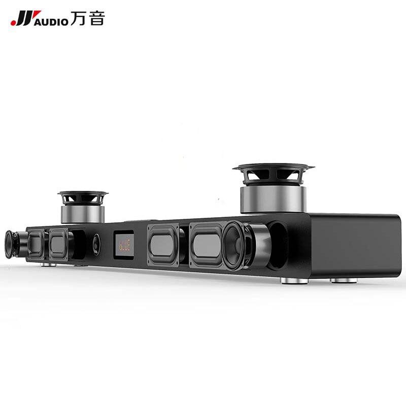 JY AUDIO A9 HIFI Barre de Son Bluetooth 5.1 Home Cinéma Système Surround En Bois haut-Parleur de Barre de Son pour la TÉLÉVISION Woofer Mural Sans Fil cinéma