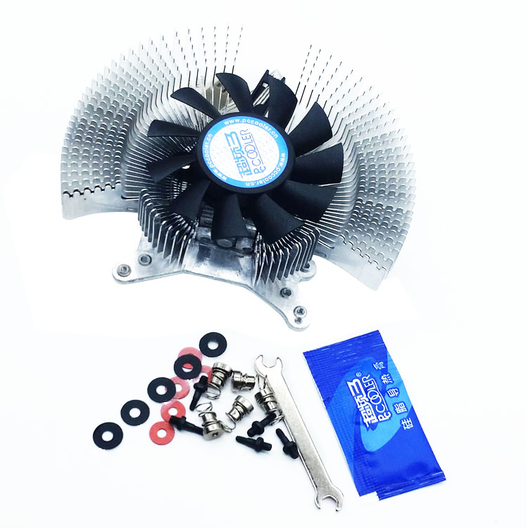 HOT SALE 2pin Aluminum DC 12V VGA Card graphics card Cooling Fan universal for all vga card 5.5 6.0 8.0cm 2holes or 4holes pci fan graphics card cooling daul 9cm fan for nvidia