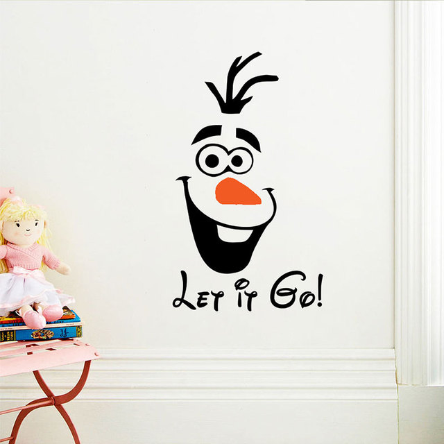 Novelty Home Decor Olaf Let It Go Funny Toilet Sticker Decal Fashion Wall