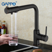 GAPPO New Brass Kitchen Faucet Mixer Blackened Kitchen Sink Tap Single Handle Filtered Water Tap Torneira