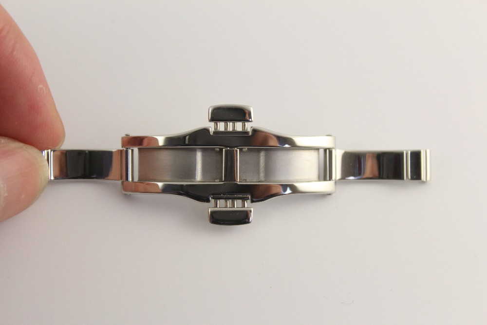 6x22mm Watch Strap Butterfly buckle Stainless steel clasp For T97 R463 Solid steel buckle Silver