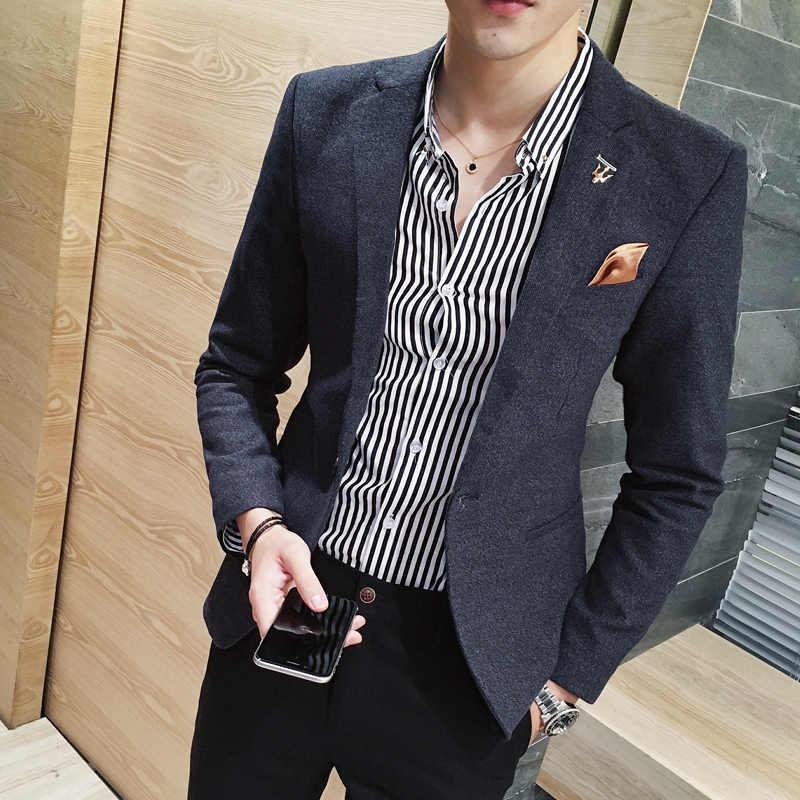 2019 新ハイエンドブランドのウェディングドレス新郎スーツジャケット男性カジュアルブレザーメンズスリムビジネススーツコート