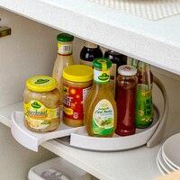 Draaibare plastic rekken opbergrek kruiden rack, keuken benodigdheden kruiden rack