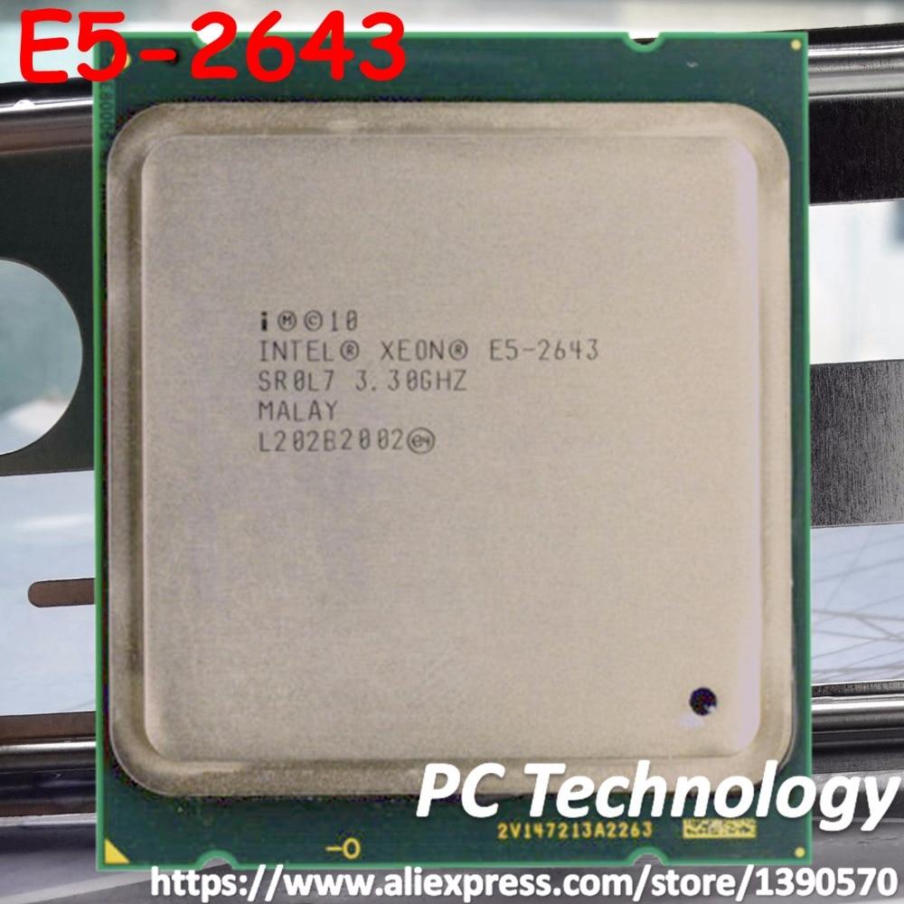 Original Intel Xeon OEM version cpu E5 2643 3 3GHz Quad Core 10M Cache DDR3 1600MHz