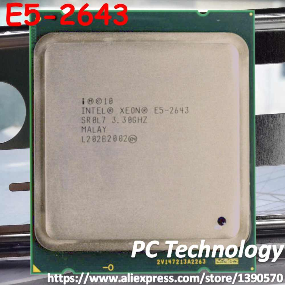 Original Intel Xeon OEM version cpu E5 2643 3.3GHz Quad-Core 10M Cache DDR3 1600MHz FCLGA2011 TPD 130W E5-2643 free shipping