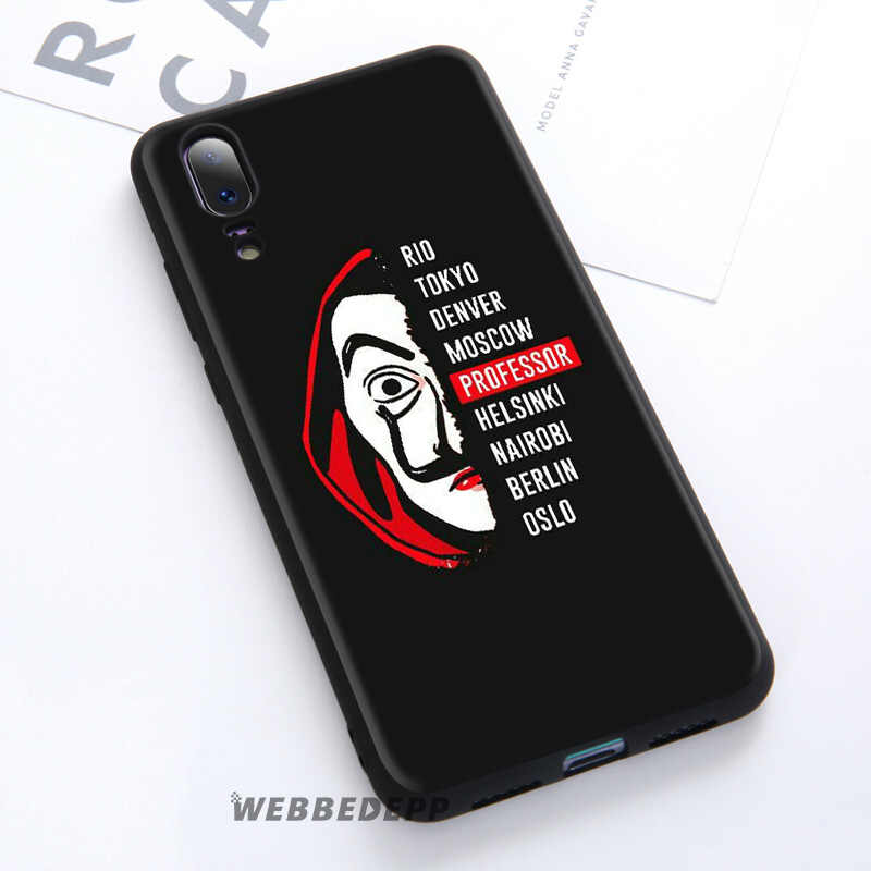 WEBBEDEPP dinero robo La Casa De Papel suave caso De Huawei P30 P20 Pro P10 P9 Lite 2017 P Smart 2019 y Nova 3 3i Y9 2019