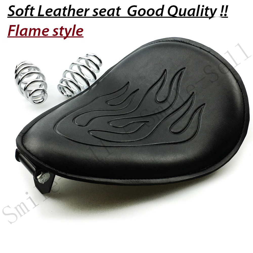 Motorcycle Spring leather solo Flame seat Bracket For Harley Sportster Chopper Bobber Suzuki Honda Yamaha kasawasaki 22 bobber cafe oldschool chopper