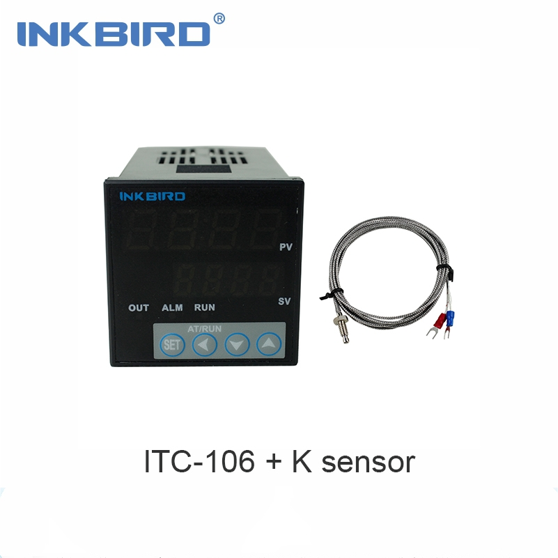 Inkbird ITC 106VH PID Temperature Thermostat Controllers, Fahrenheit & Centigrade, 100ACV 240ACV with K Sensor for Sous Vide,