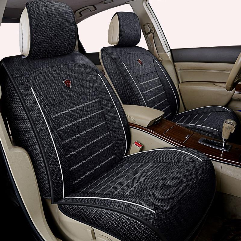 High quality linen Universal car seat cover for Skoda Octavia Fabia Superb Rapid Yeti Spaceback Joyste