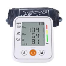 Portable Automatic Upper Arm Blood Pressure Monitor pressao Cuff Tonometer Arm Sphygmomanometer Tensiometer Bp Heart Rate Meter tension meter denso mechanical belt tensiometer btg 2 import tensiometer