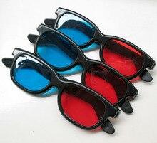 Preço Barato por atacado Azul E Vermelho Óculos 3D de Boa Qualidade Para LCD LED Projetor Projetor de Vídeo Óculos 4 Unidade/lote