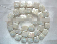 Xiuli 000470 Wholesale 11 5mm White Square Freshwater Pearl Beads