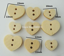 купить WBNSNL 3 sizes Heart wood button nature 150 pieces DIY scrapbooking ornament hand made craft supplies дешево