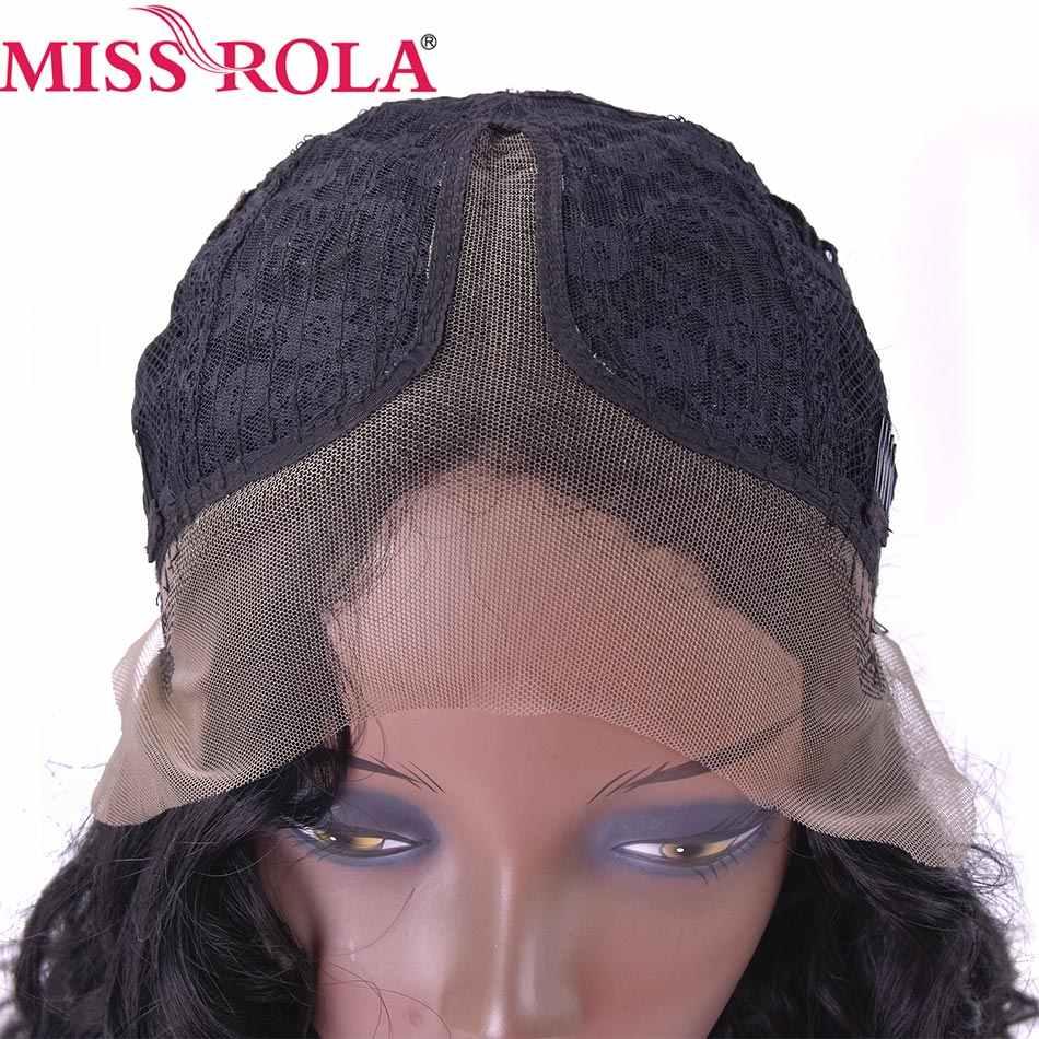Мисс Рола длинные парики 10-20 дюйм(ов) Kanekalon высокой Температура волокно Для женщин химическое швейцарский кружево волос, парики 1B # фигурные парики 1 шт./упак.