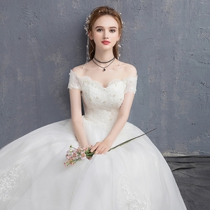 Image 3 - Mrs Win Applique Kant Vintage Trouwjurk 2020 Nieuwe Off Shoulder Bruid Jurk Prinses Droom Trouwjurk China Bruidsjurken