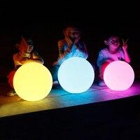 Водонепроницаемая светодиодная шариковая лампа RGB подводный свет IP65 наружные Свадебные садовые лужайки лампы для бассейна плавающие шарик...