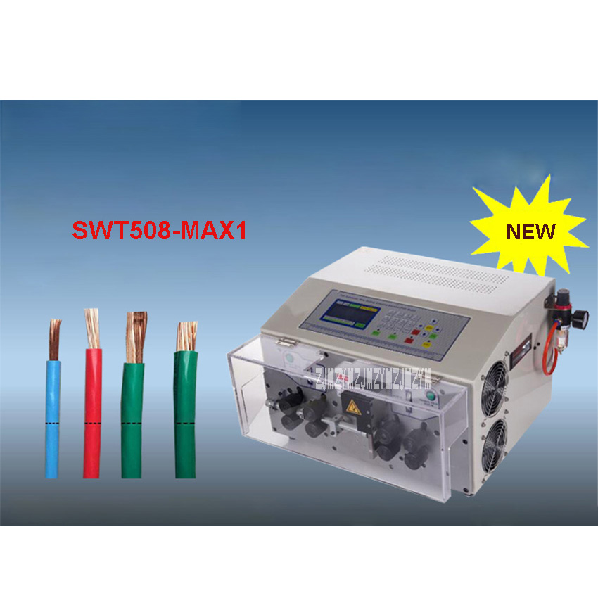 SWT508-MAX1 Eight-wheel Automatic Computer Wire Stripping Machine/Cutting Machine 110V/220V 800W 4000-5000 Strips/Hour 0.3-25mm2