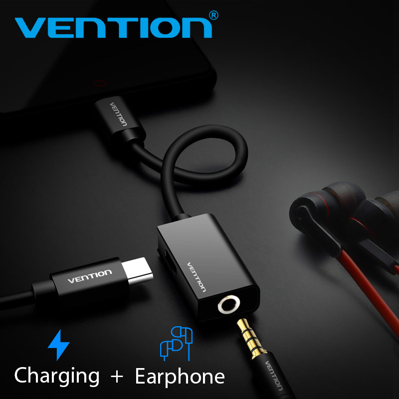 Vention USB Type C 3.5 Earphone Adapter Charger USB C to 3.5mm Jack AUX Adapter for Xiaomi Mi6 MIX2 Huawei Audio Cable xiaomi type c to 3 5mm earphone cable adapter usb 3 1 type c usb c male to 3 5 aux audio female jack for xiaomi 6 mi6 letv 2 pro