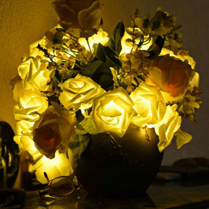 Multi Colors Holiday Lighting LED String Light 20 LED Rose Flowers 2M Fairy Light For Wedding Party Christmas Decoration