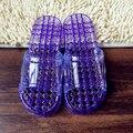 Завод прямого большой мяч массаж тапочки ПВХ нескользящие банные тапочки летние сандалии домашние тапочки h200