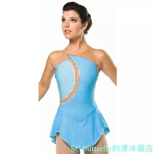 Aliexpress.com : Buy ice figure skating dress light blue free size ...