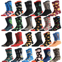 PEONFLY New 2019 Spring Funny Delicious Food Printed Men Socks Colorful Snacks H