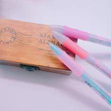 2pcs/lot Pen Korean Style Flamingo Cartoon Silicone Head Blue Black Red Three-color Ball Pens School Party Supplies Kawaii