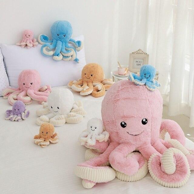 Kawaii criativo Polvo Polvo Travesseiro Baleia de Pelúcia Dolls & Stuffed Brinquedos Crianças Presentes Do Bebê Brinquedos de Pelúcia Pequeno Pingente de Animais Do Mar