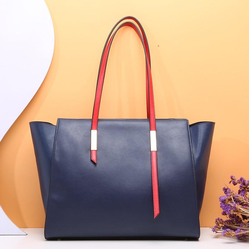 94cda663d8 DIENQI famoso saco de couro genuíno bolsas de luxo mulheres sacos de  designer bolsas de couro tote sacos de ombro bolsa feminina grande grande  2019