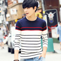 Fall 2016 new sweater male creative sweater long-sleeved stripes