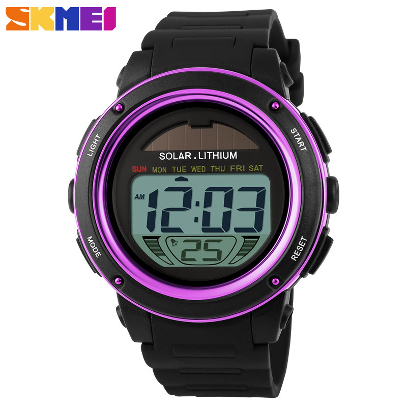 SKMEI Casual Solar Power  50M Water Resistant Wristwatches Outdoor Sports Watches Men Shock Digital Watch Relogio Masculino SKMEI Casual Solar Power  50M Water Resistant Wristwatches Outdoor Sports Watches Men Shock Digital Watch Relogio Masculino