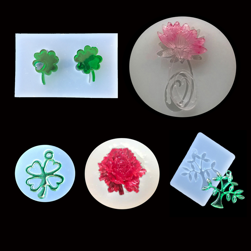 1PC Flower Lucky Leaf Tree Liquid Silicone Expoxy Mold Resin Jewelry Mold UV Pendant Jewelry Accessories Handcraft Jewelry Tool