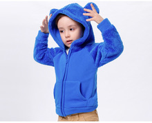 Kids New Children Cothing Girls Boys Coat clothes Cotton Solid Color Hooded Jacket Boys Outwear KW-1632-3