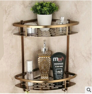 Wall Mounted Antique bronze Aluminun Bathroom Soap Basket Bath Shower Shelf Soap Basket Holder building materia brand new iron wall basket shelf for bathroom