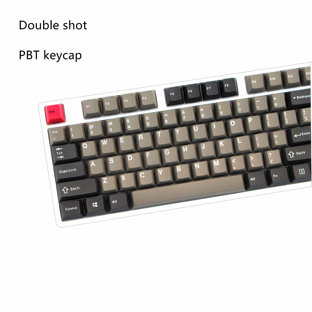New product Black Grey mixed Dolch Thick PBT double shot  87/106 Keycaps Cherry Profile MX switches Mechanical Keyboard keycap aquapulse 4122b grey black