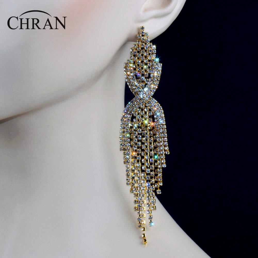 Aliexpress Com Buy 1440pcs Gold Bottom Crystal Clear: Aliexpress.com : Buy Chran Luxury Bridal Gold Color Clear