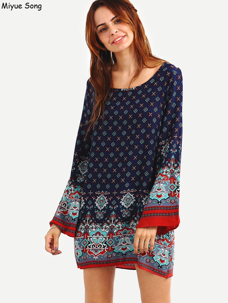 Elegant Ethnic Long Sleeve Maternity Clothes Pregnant Women Dress Vintage Casual Dress Spring Autumn Maternity Clothing