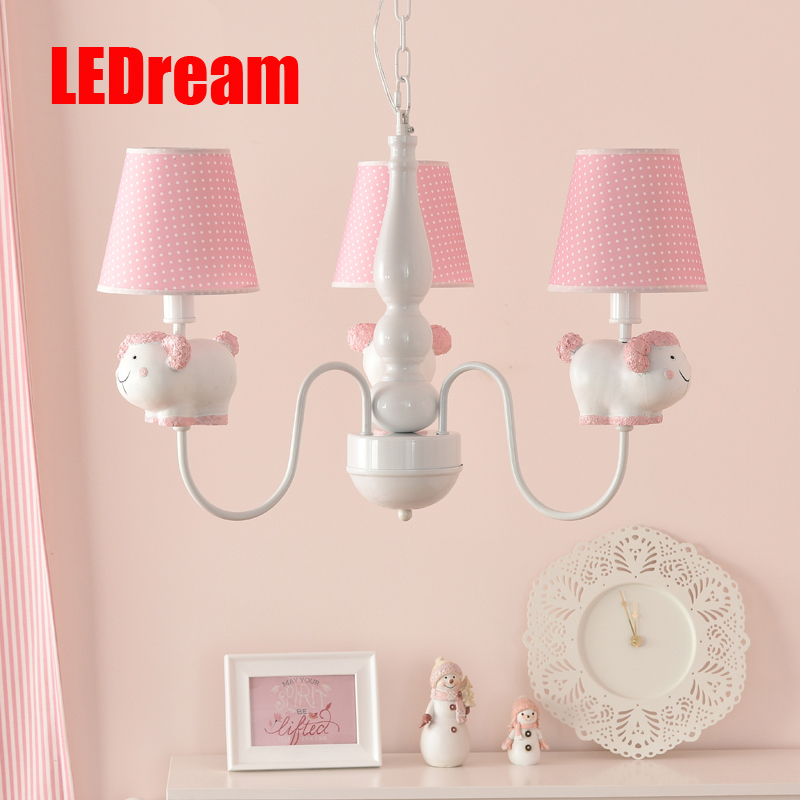 The panda droplight of children room Creative contracted cute cartoon boys and girls bedroom lamps the princess's room купить