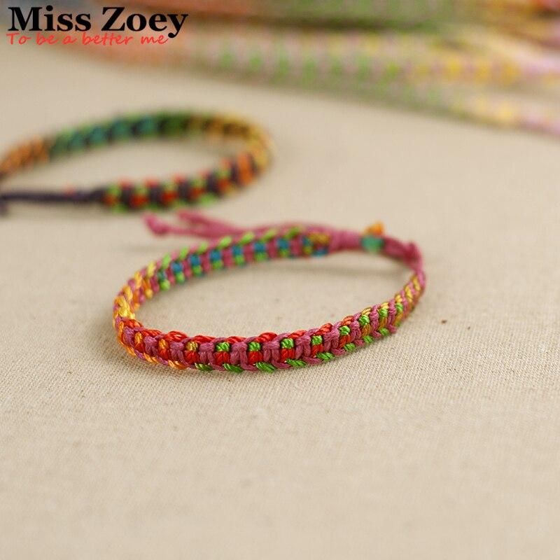 ABL058 120 Brazil Boho Hand Weave Braided Bracelets for Women Bohemian Vintage Cotton Rope Cheap Ethnic