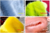 Good Quality Plush Fabric Imitation Fox Fur Clothing Collar Fur Carpet Decoration Materials 160cmX50cm Pcs