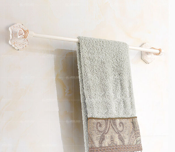 Contemporary White Bathroom Towel Shelf Basin Towel Bar China Mainland