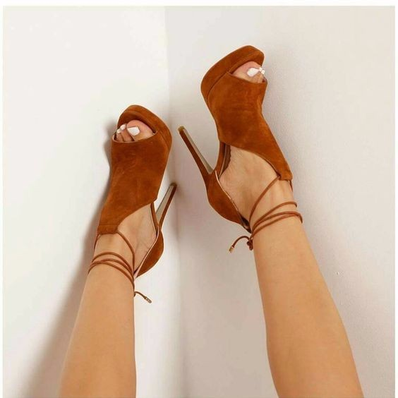 ФОТО woman summer cut-outs gladiator sandal hot selling brown suede peep toe sandal lace-up platform sandal free shipping