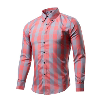 New Fashion Brand Camisa Masculina Long Sleeve Shirt Men Korean Slim Design Formal Casual Male Dress Shirt Size M-3XL Рубашка
